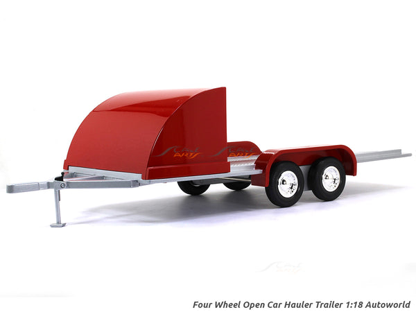 Four Wheel Open Car Hauler Trailer 1:18 Auto World diecast scale model car