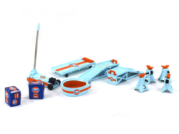 Gulf Garage set 1:18 GMP car model diorama accessory