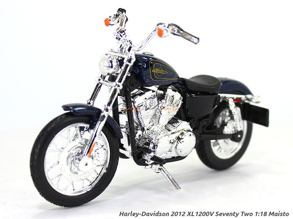 2012 XL1200V Seventy Two Blue Harley Davidson 1:18 Maisto diecast scale model bike