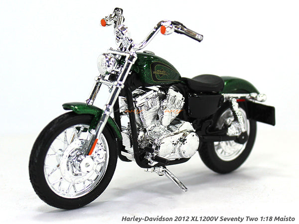 2012 XL 1200 Seventy Two Green Harley Davidson 1:18 Maisto diecast scale model bike