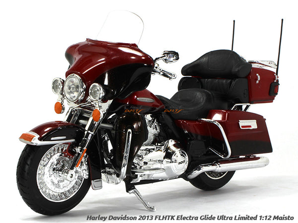 2013 Electra Glide Ultra Limited Red Harley Davidson 1:12 Maisto diecast Scale Model bike