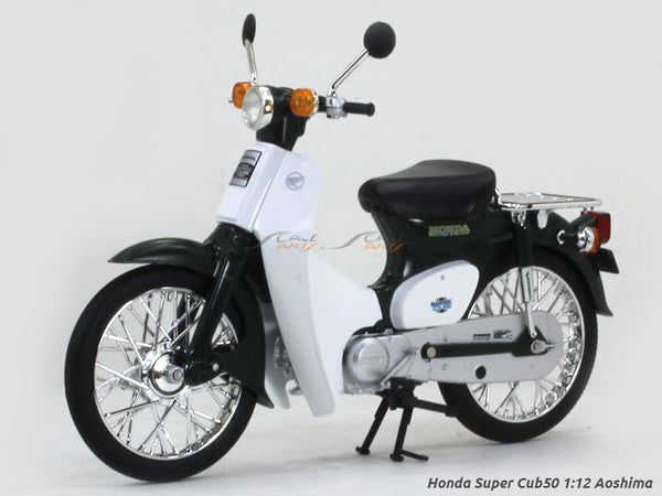 Honda Super Cub50 green 1:12 Aoshima diecast Scale Model bike