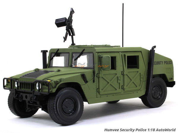 Humvee Security Police 1:18 Auto World diecast scale model car