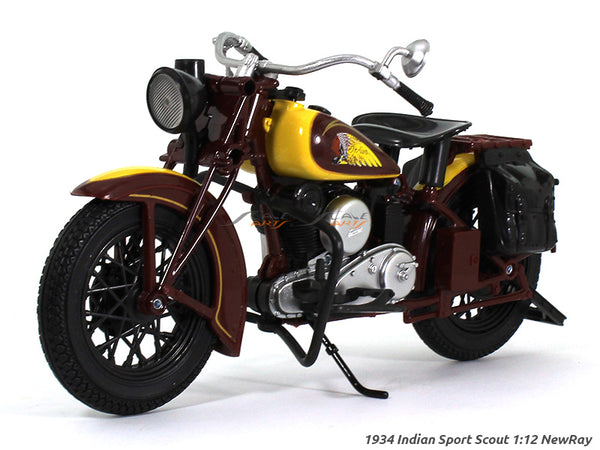 1934 Indian Sport Scout 1:12 NewRay scale model bike
