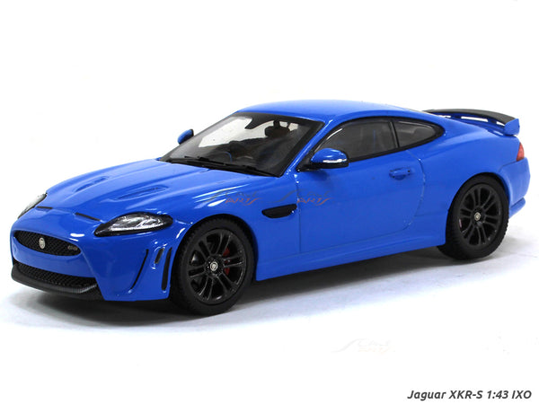 Jaguar XKR-S french racing blue 1:43 IXO diecast scale model car