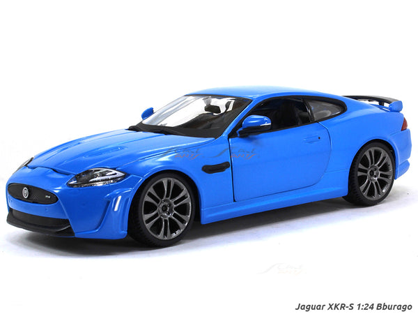 Jaguar XKR-S blue 1:24 Bburago diecast Scale Model car