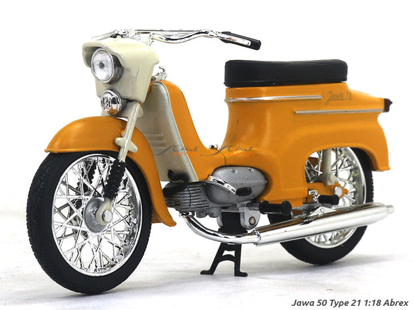 Jawa 50 type 21 yellow 1:18 Abrex diecast Scale Model Bike