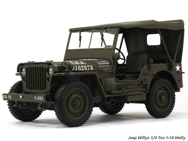Jeep Willys 1/4 Ton 1:18 Welly diecast Scale Model car
