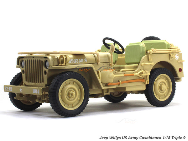 Jeep Willys US Army Casablanca 1:18 Triple9 diecast Scale Model Car