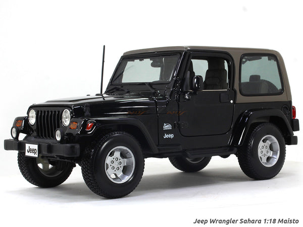 Jeep Wrangler Sahara black 1:18 Maisto diecast Scale Model car