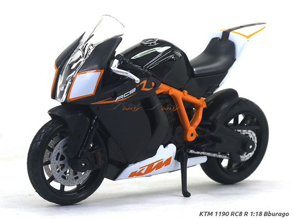 KTM 1190 RC8 R 1:18 Bburago diecast scale model bike