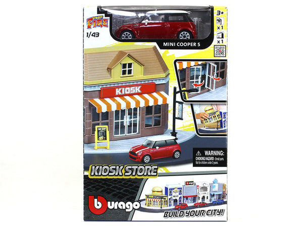 Kiosk Store diorama with car 1:43 Bburago kit