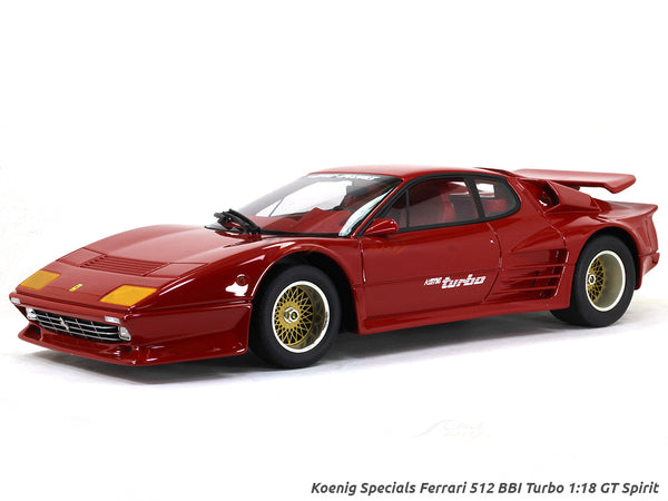 Koenig Specials Ferrari 512 BBI Turbo 1:18 GT Spirit scale model car