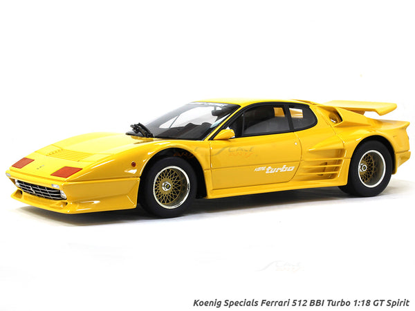 Koenig Specials Ferrari 512 BBI Turbo yellow 1:18 GT Spirit scale model car