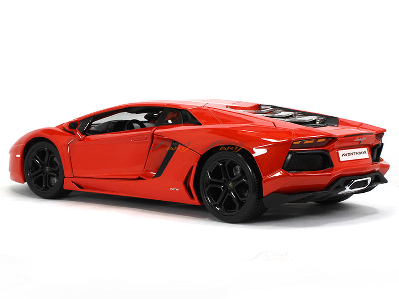 Lamborghini Aventador Lp700 4 Orange 1 18 Bburago Diecast Scale Model Scale Arts India