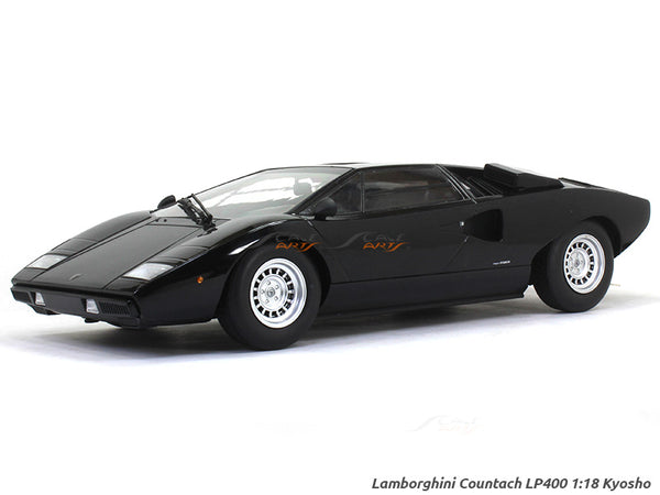 1974 Lamborghini Countach LP400 black 1:18 Kyosho diecast Scale Model Car