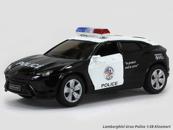 Lamborghini Urus Police 1:38 Kinsmart scale model car