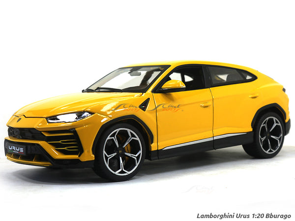 Lamborghini Urus yellow 1:20 Bburago diecast Scale Model car