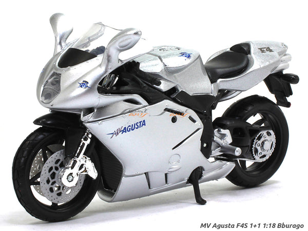 MV Agusta F4S 1+1 1:18 Bburago diecast scale model bike