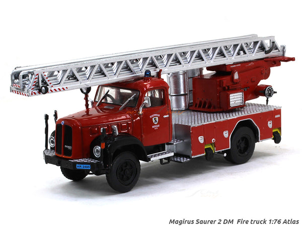 Magirus Saurer 2 DM  Fire truck 1:76 Atlas diecast scale model truck