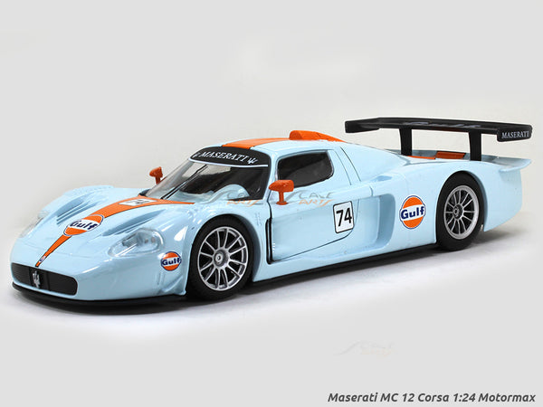 Maserati MC12 Corsa gulf 1:24 Motormax diecast scale model car