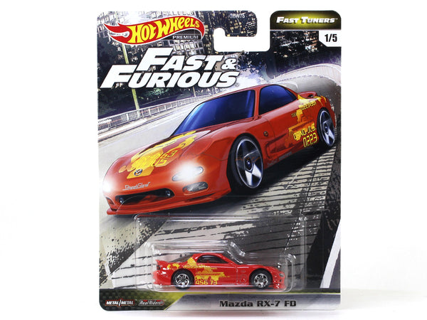 Mazda RX-7 FD Fast & Furious 1:64 Hotwheels premium collectible