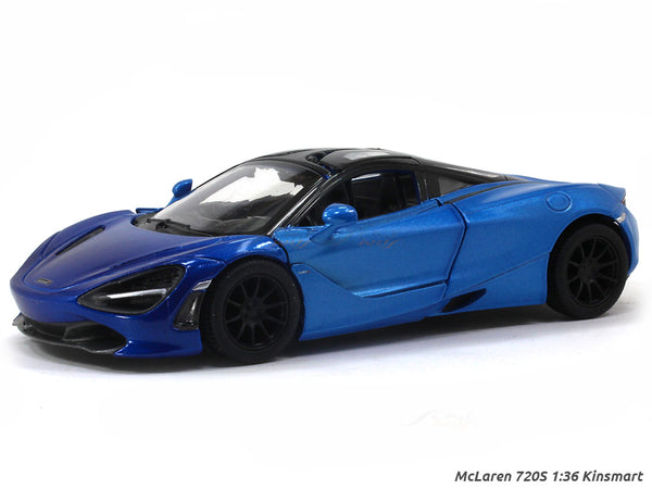 McLaren 720S Blue 1:36 Kinsmart scale model car