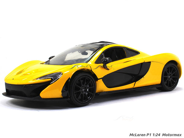 McLaren P1 Yellow 1:24 Motormax diecast scale model car