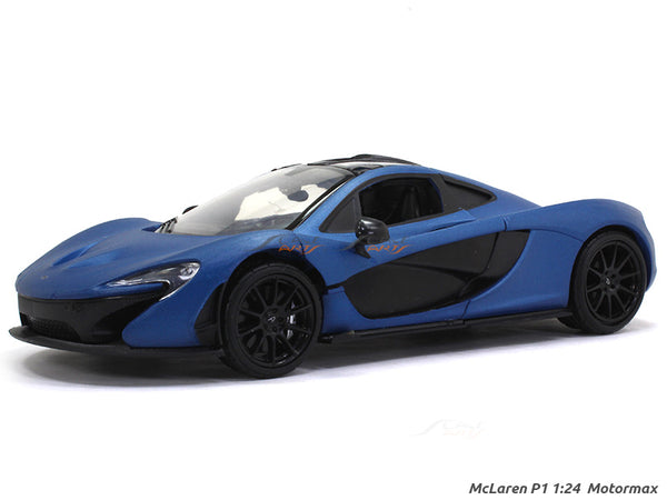 McLaren P1 Matte Blue 1:24 Motormax diecast scale model car