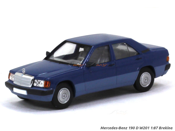 Mercedes-Benz 190 D W201 blue 1:87 Brekina HO Scale Model car