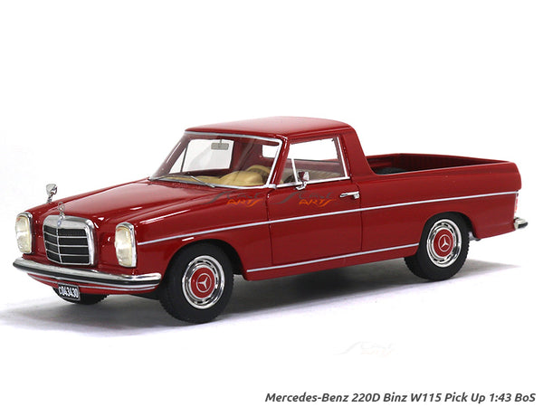 Mercedes-Benz 220D Binz W115 Pick Up 1:43 BoS Scale Model Car