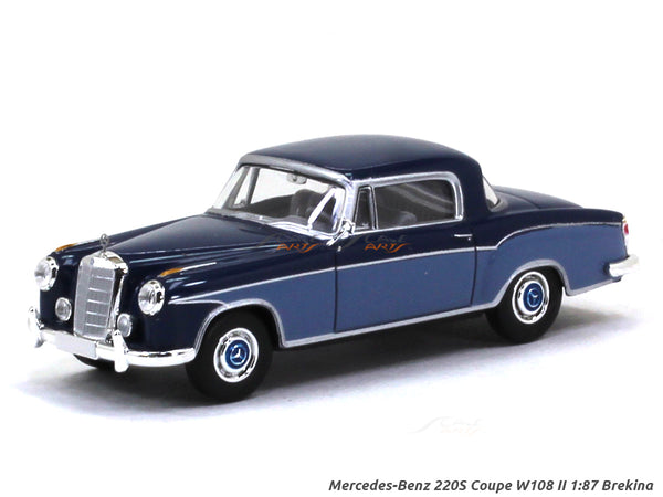 Mercedes-Benz 220S Coupe W108 II blue 1:87 Brekina HO Scale Model car collectible