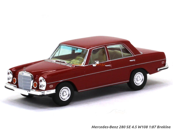 Mercedes-Benz 280 SE 4.5 W108 red 1:87 Brekina HO Scale Model