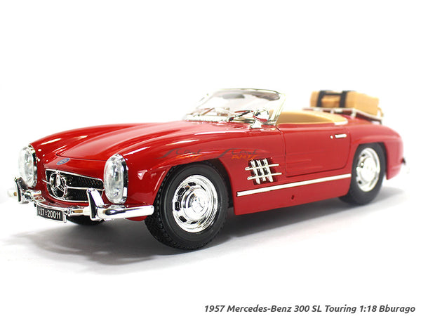 1957 Mercedes-Benz 300 SL Touring red 1:18 Bburago diecast Scale Model car