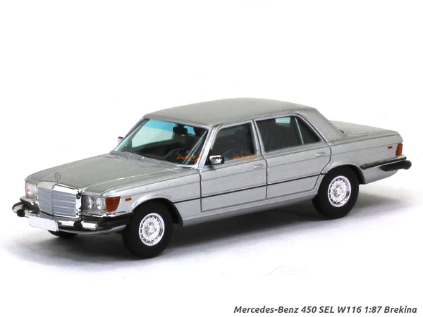 Mercedes-Benz 450 SEL W116 silver 1:87 Brekina HO Scale Model car
