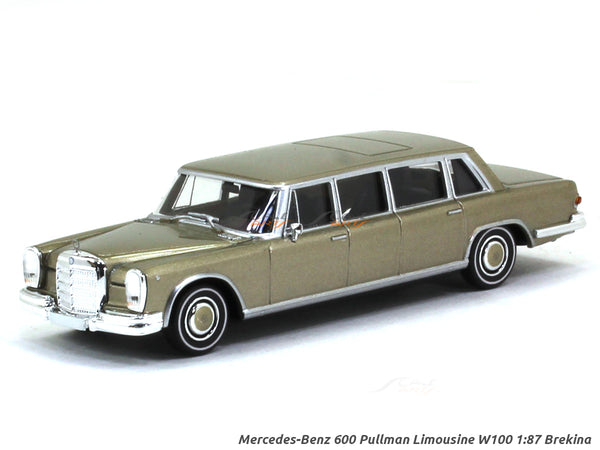 Mercedes-Benz 600 Pullman Limousine W100 gold 1:87 Brekina HO Scale Model