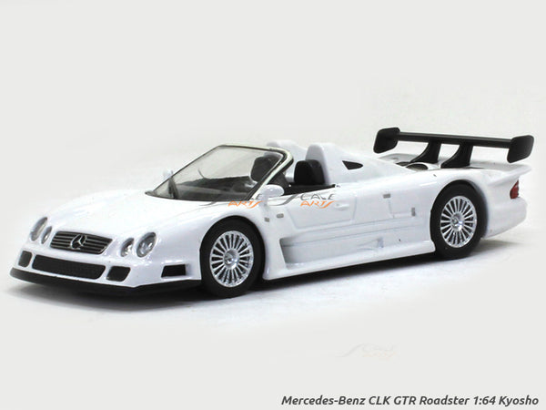 Mercedes-Benz CLK GTR Roadster white 1:64 Kyosho diecast Scale Model car