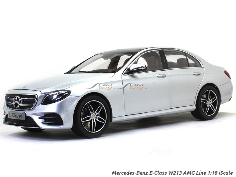 Mercedes Benz E Class W213 Amg Line Silver 1 18 Iscale