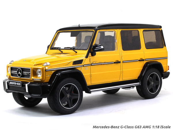 Mercedes-Benz G-Class G63 V8 AMG Solarbeam Yellow 1:18 iScale diecast scale model car