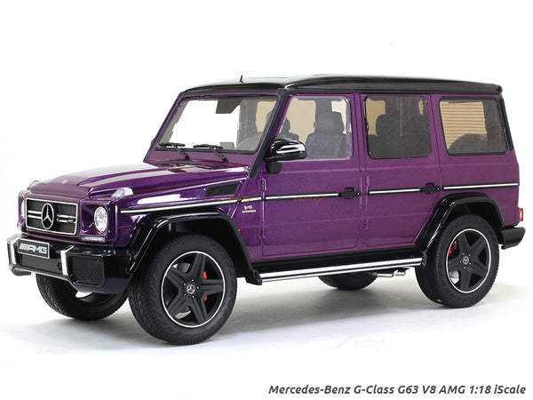 Mercedes-Benz G-Class G63 V8 AMG purple 1:18 iScale diecast scale model car