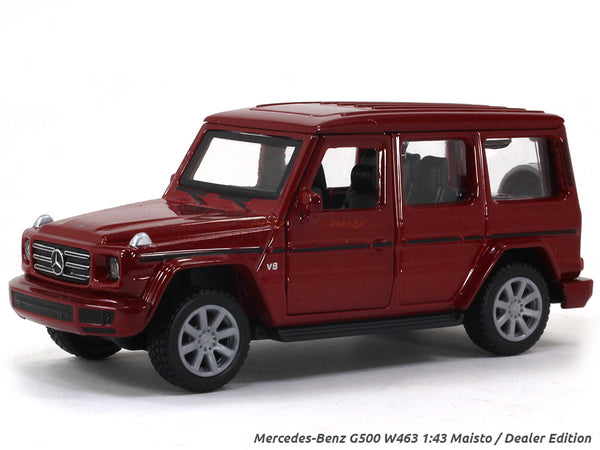 Mercedes-Benz G500 W463 red 1:43 Maisto Dealer Edition diecast Scale Model car