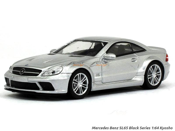 Mercedes-Benz SL65 Black Series silver 1:64 Kyosho diecast Scale Model car