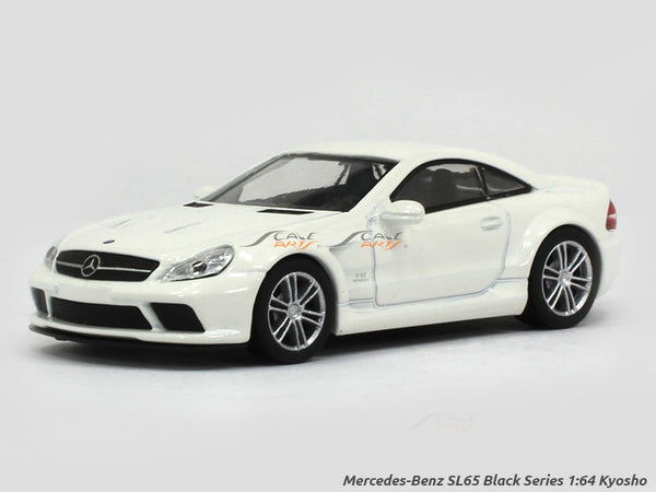Mercedes-Benz SL65 Black Series white 1:64 Kyosho diecast Scale Model car