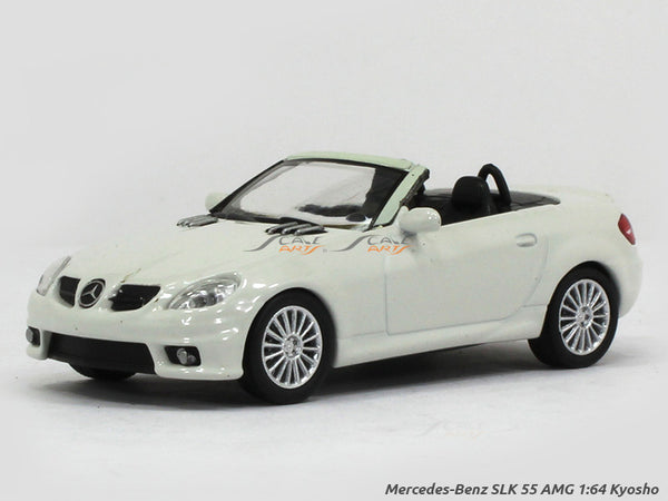 Mercedes-Benz SLK 55 AMG white 1:64 Kyosho diecast Scale Model car