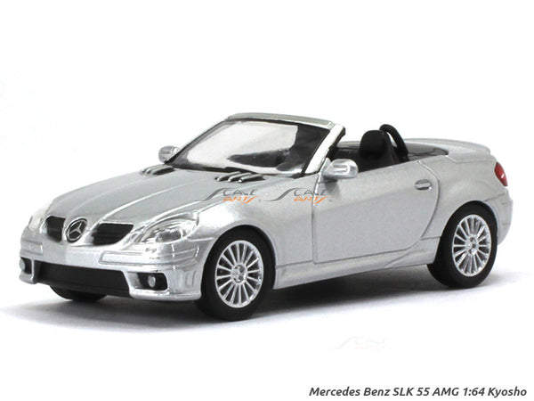 Mercedes-Benz SLK 55 AMG silver 1:64 Kyosho diecast Scale Model car