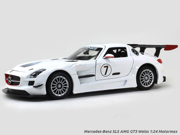 Mercedes-Benz SLS AMG GT3 Weiss 1:24 Motormax diecast scale model car