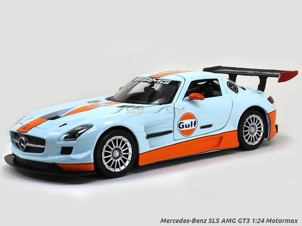 Mercedes-Benz SLS AMG GT3 gulf 1:24 Motormax diecast scale model car