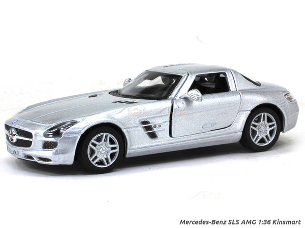 Mercedes-Benz SLS AMG silver 1:36 Kinsmart diecast Scale Model Car
