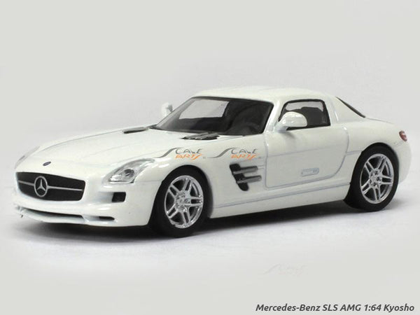 Mercedes-Benz SLS AMG white 1:64 Kyosho diecast Scale Model car