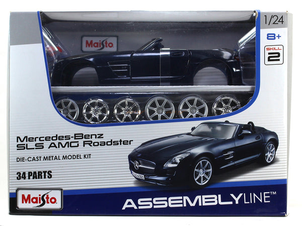 Mercedes-Benz SLS AMG Roadster 1:24 Maisto Model Kit car diecast scale model